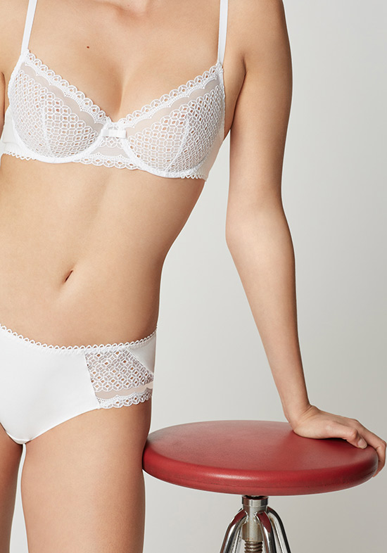 Maison Lejaby Jolie Coton underwire bra as featured on Lingerie Briefs