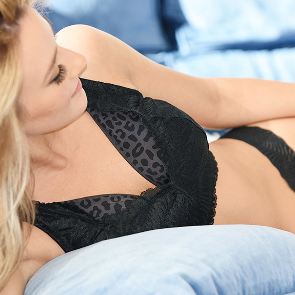Behave Bras bralette with Stayz sleep support system for large busted women as featured on Lingerie Briefs