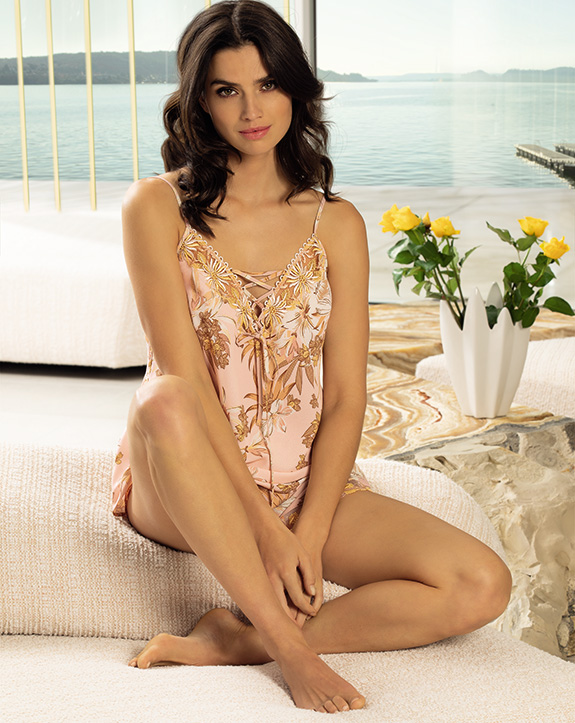 Lise Charmel Fleur Aphrodite camisole and shorts as featured on Lingerie Briefs