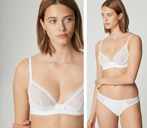Maison Lejaby Joli Coton triangle bra as featured on Lingerie Briefs