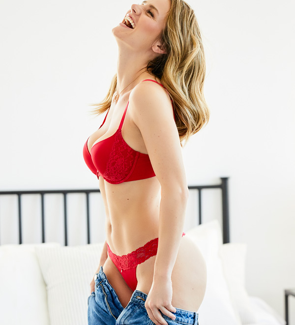 The Allure Light Push-up bra has gradual padding that decreases with increasing cup size featured on Lingerie Briefs