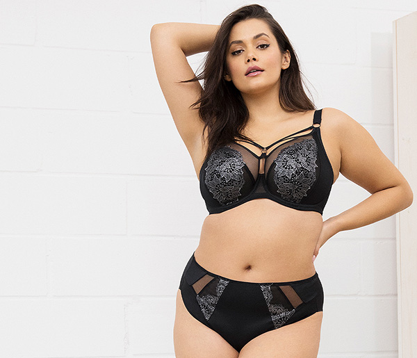 Elomi Sachi Bra in black delivering july 2020 as featured on Lingerie Briefs
