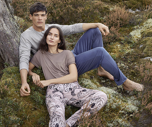 Calida sustainable loungewear collection as featured on Lingerie Briefs
