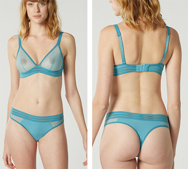 Maison Lejaby NUFIT triangle bra & tanga panty as featured on Lingerie Briefs