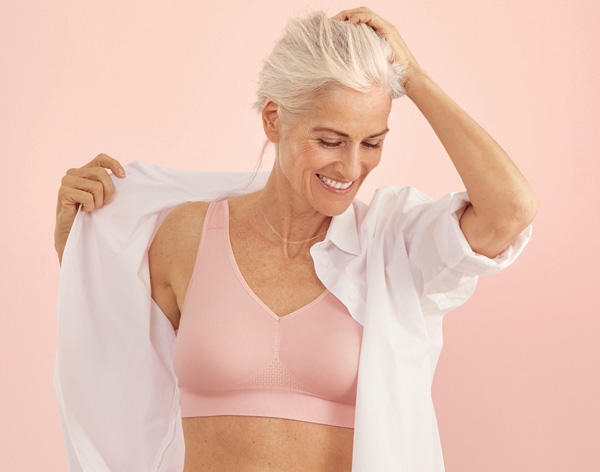 Ulta soft Lotta is a seamless, pocketed mastectomy bra from Anita - featured on Lingerie Briefs