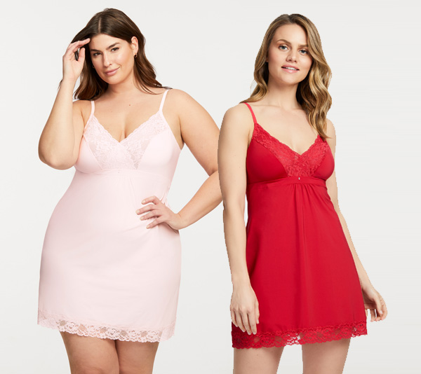 Montelle's Bust Support Chemise is available in XXXL featured on Lingerie Briefs