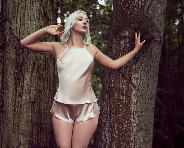 Emma Harris' Tiffany collection new in dusty pink - featured on Lingerie Briefs
