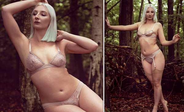 Emma Harris' silk-satin Tiffany collection now in dusty pink - featured on Lingerie Briefs