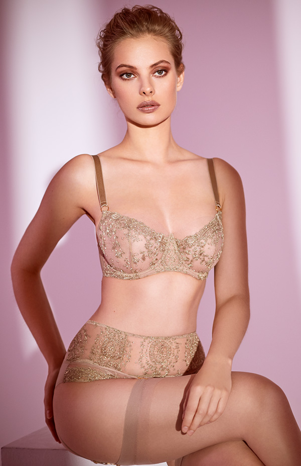 Katherine Hamilton Abrielle gold collection - featured on Lingerie Briefs