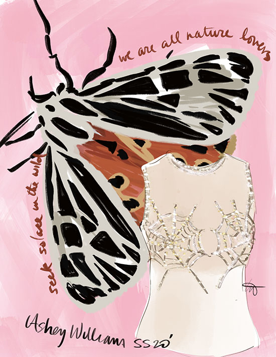 Fashion Illustrations of Surreal Lingerie by Tina Wilson as featured on Lingerie Briefs