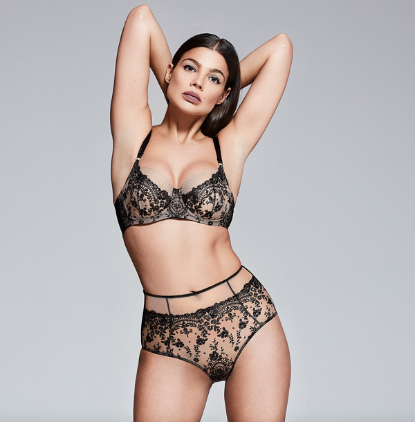 Katherine Hamilton Abrielle in black - featured on Lingerie Briefs
