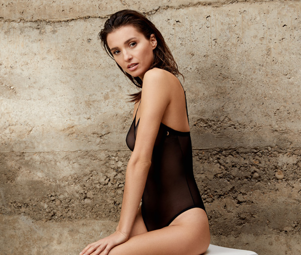 Le Mystere's stunning modern mesh bodysuit - featured on Lingerie Briefs