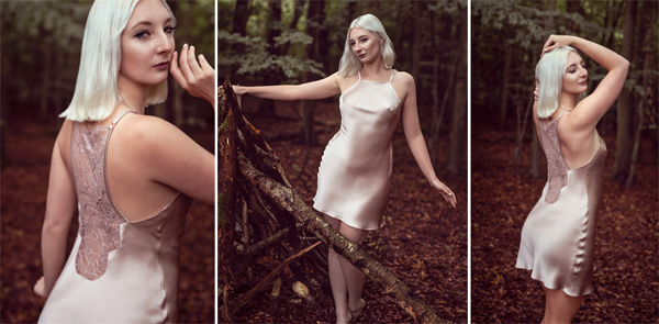 Emma Harris' Tiffany chemise now in dusty pink - featured on Lingerie Briefs