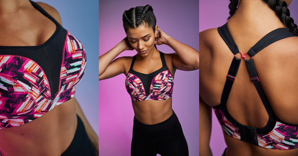 Panache AW20 new Wired sports bra in Neon Lights - featured on Lingerie Briefs
