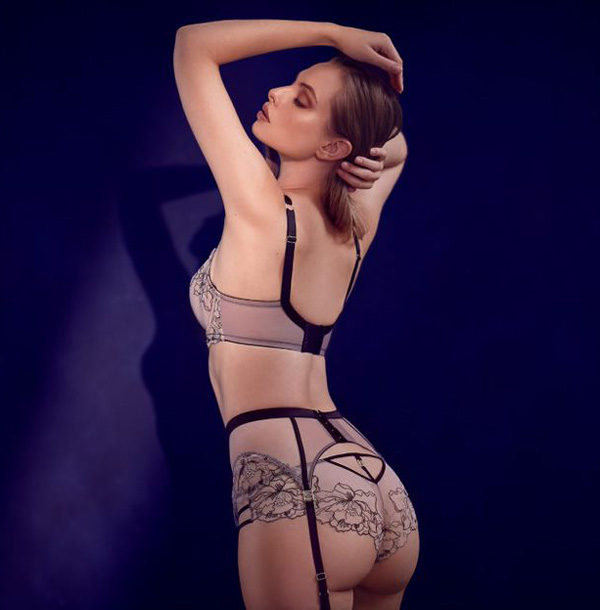 Katherine Hamilton Priya Collection new in black. Featured on Lingerie Briefs