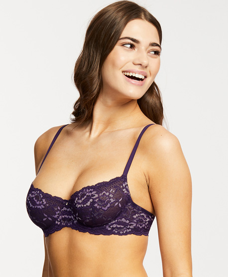 Deep Purple Velvet Tones Introduced at Montelle Intimates