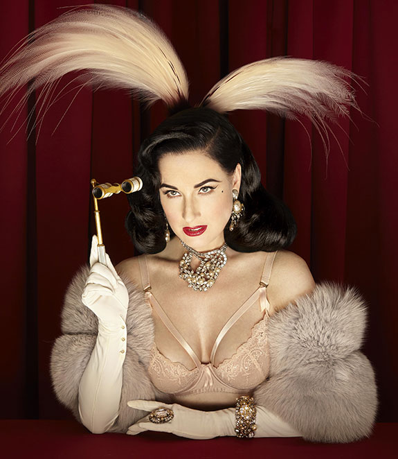 Dita Von Teese Madame X lingerie as featured on Lingerie Briefs
