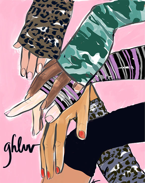 Tina Wilson illustrates which gloves to the polls as featured on Lingerie Briefs