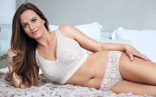 Parfait Lingerie Adriana Bralette in pearl white as featured on Lingerie Briefs