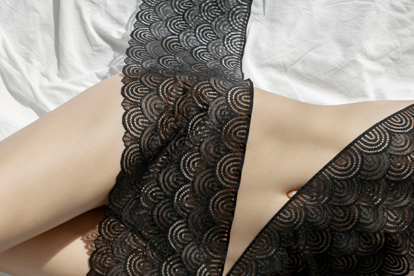 Chanty's Natural lace range is supple to the touch - featured on Lingerie Briefs