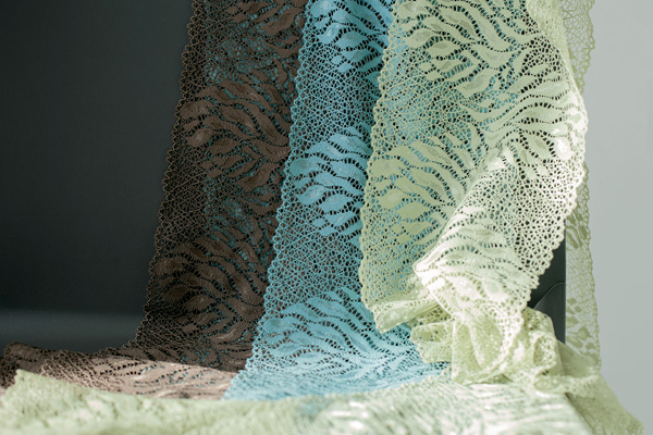 Chanty lace in soothing shades of green - featured on Lingerie Briefs