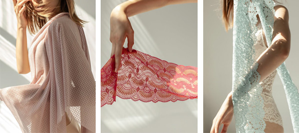Chanty uses state-of-the-art Raschel knitting machines for laces - featured on Lingerie Briefs