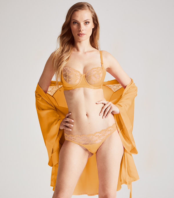 Katherine Hamilton Sophia lingerie collection now in ginger - featured on Lingerie Briefs