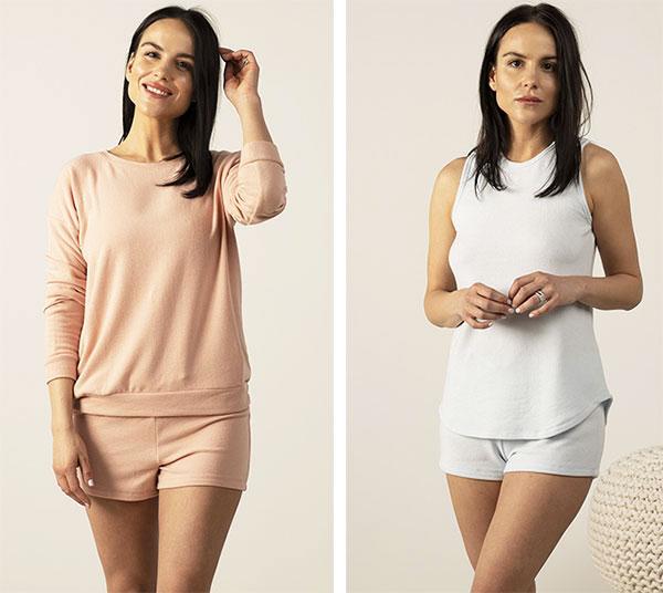 Aspen Dream Cozy Knit pajamas as featured on Lingerie Briefs