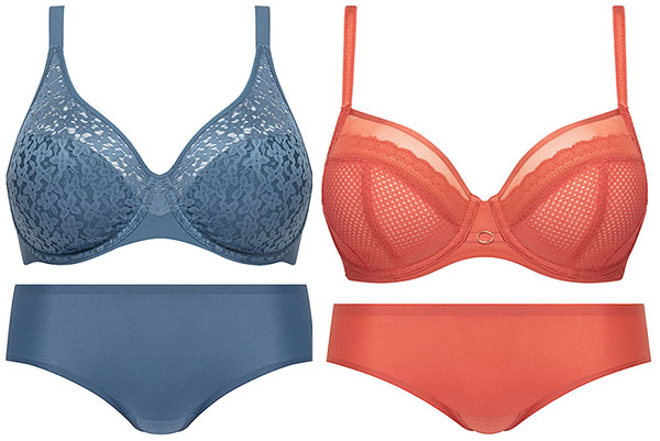 Chantelle Norah br with Hipster & Parisian bra with Bikini as featured on lingerie briefs