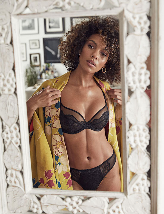 Liberte Lingerie Bowery Mesh i bra and Hi rise panty as featured on Lingerie Briefs