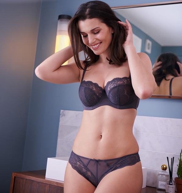 Panache welcomes Imogen in Kitten Grey as featured on Lingerie Briefs