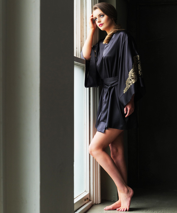 Emma Harris best-selling Cleo kimono - featured on Lingerie Briefs