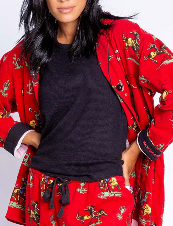 PJ Salvage Kick Back and Relax flannel Pajamas as featured on Lingerie Briefs