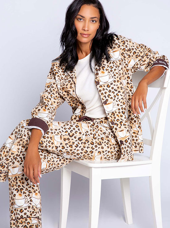 PJ Salvage Flannel Cool Beans Pajamas as featured on Lingerie Briefs