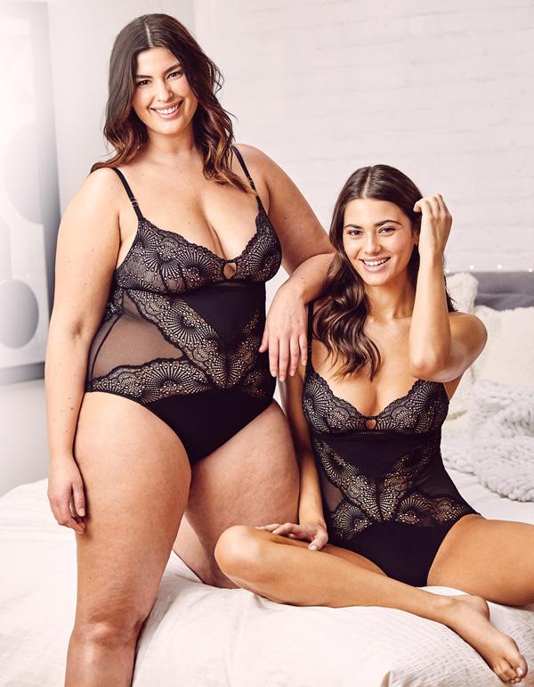 Montelle Intimates new Femme Fatale Flirt Cheekini Bodysuit featured on Lingerie Briefs