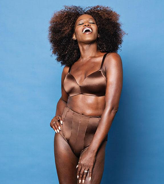 Transgender Woman Winn Austin models her new Ms A London Lingerie brand