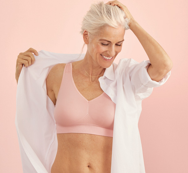Lotta (5769X) is Anita Comfort's best selling seamless back closure pocketed bra now in lotus, featured on Lingerie Briefs