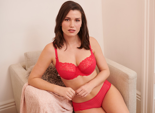Panache new color Cyber Red on bestselling Envy collection - featured on Lingerie Briefs
