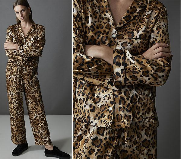 Natori Cheetah printed jacquad pajama as featured on Lingerie Briefs