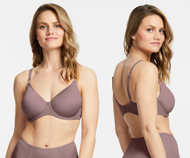 Montelle's Spacer Bra - in almond spice for spring 2021 - featured on Lingerie Briefs