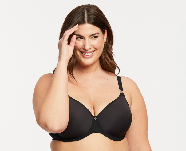 Montelle's Spacer Bra - comfort t-shirt bra curvy- featured on Lingerie Briefs