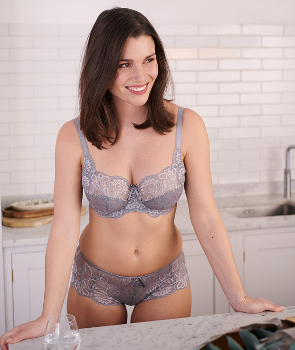 Panache's Andorra now in beautiful frost grey - featured on Lingerie Briefs