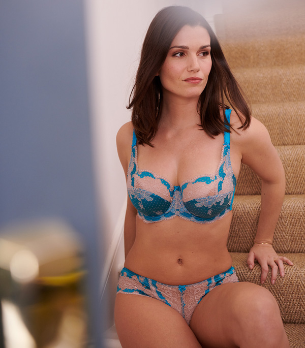 Clara by Panache has just arrived in this stunning Peacock Blue - featured on Lingerie Briefs