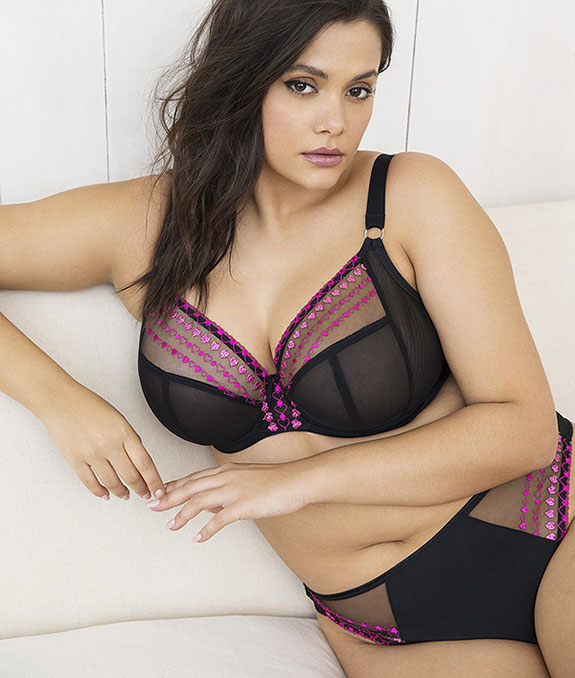 Elomi Matilda Kiss plus size bra as featured for Valentine's Day on Lingerie Briefs