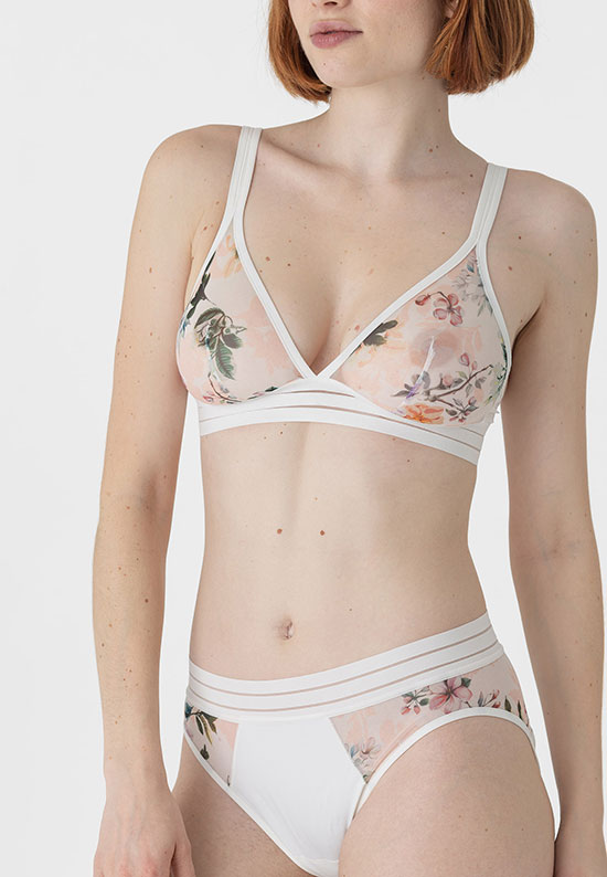 Maison Lejaby Nufit Gardin Collection as featured on Lingerie Briefs soft cup bra and bikini brief