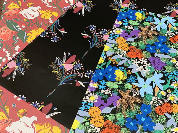 Elena Romero, graphic and textile designs, as featured on Lingerie Briefs