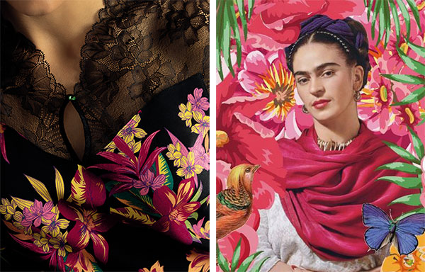 Lise Charmel Fleurs de Nuit Collection inspired by Frieda Kahlo as featured on Lingerie Briefs