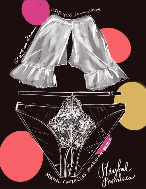 Black History Month and Black owned lingerie companies as illustrated by Tina Wilson for Lingerie Briefs