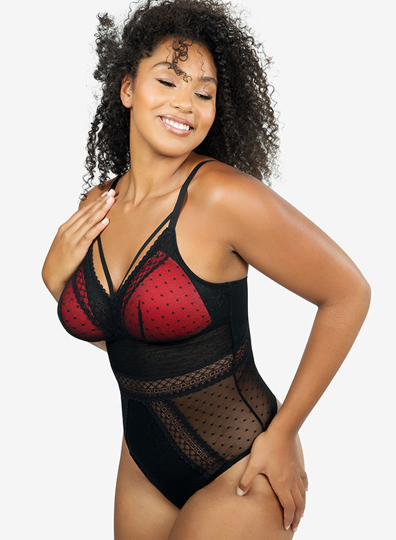 Parfait Lingerie mia dot bodysuit as featured on Lingerie Briefs