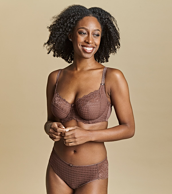 Panache ss21 - NEW Envy in Chestnut - featured on Lingerie Briefs